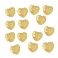 Guld hjerte diamant bordpynt
