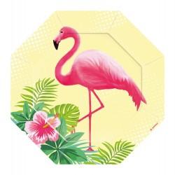 Flamingo Paradise dessert tallerkner