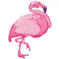 Pink Flamingo Supershape Ballon