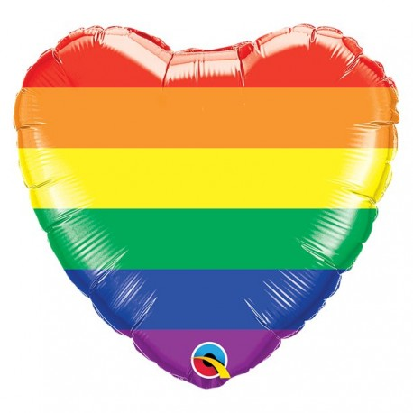 Regnbue pride hjerte folieballon