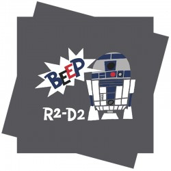 R2D2 Star Wars servietter i retro design