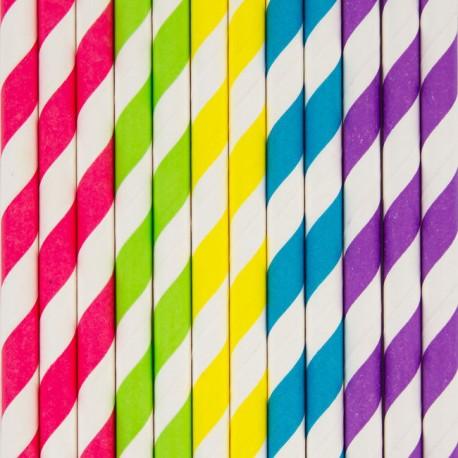 flotte farver 25 Stribede sugerør i flotte farver fra franske My Little Day flotte farver