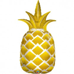 Pineapple Supershape ballon i guld