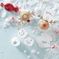 Snemænd og julemænd bordkortholdere