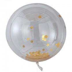 Store guld konfetti orb balloner
