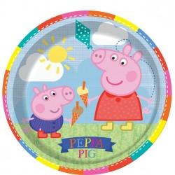 Gurli Gris Tallerkner til Peppa Pig Fødselsdag