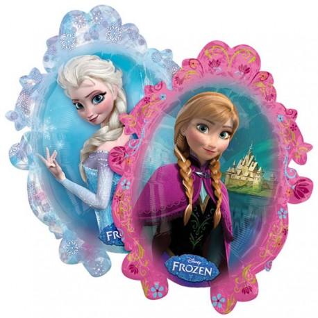 Anna og Elsa Frozen Supershape Ballon