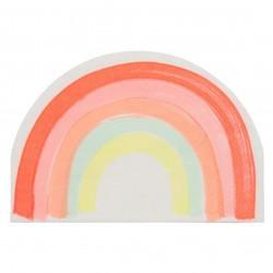 Sjove regnbue servietter fra Meri Meri