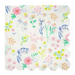 Blomster servietter fra Meri Meri