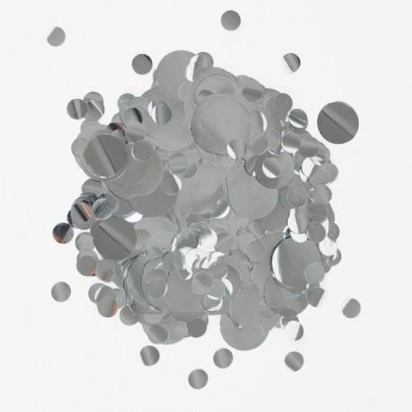 Silkekonfetti i sølv farver