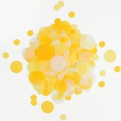 Silkekonfetti i gul farve