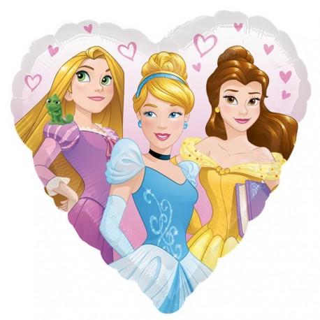 Hjerteformet prinsesse ballon