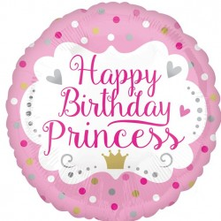 Happy Birthday prinsesse ballon