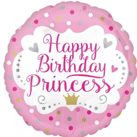 Happy Birthday prinsesse ballon