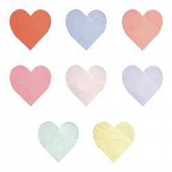 Hjerteformet Servietter i 8 farver fra Meri Meri