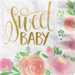 Sweet Baby Servietter til Babyshower