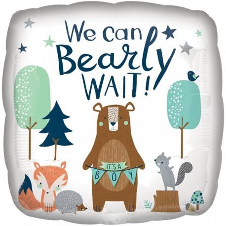 Bearly Wait ballon til Babyshower