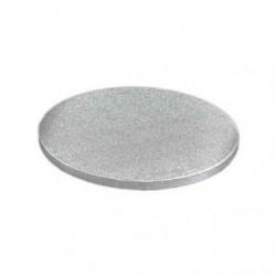 30 cm rundt sølv kagefad 1,2 cm tykt