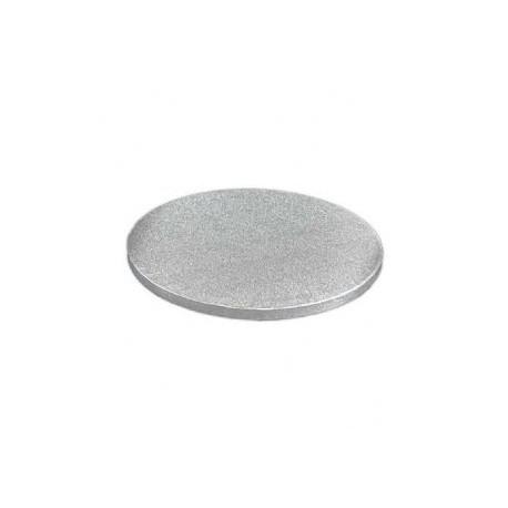 31ac2188789 30 cm rundt sølv kagefad 1,2 cm tykt