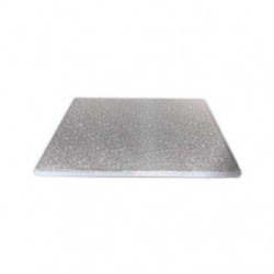 30 cm firkantet sølv kagefad 1,2 cm tykt