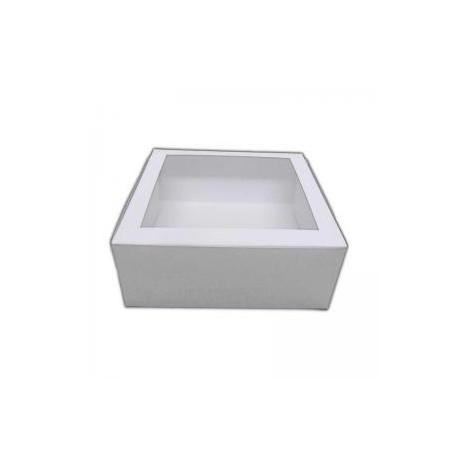 Kagekasse med gennemsigtig låg