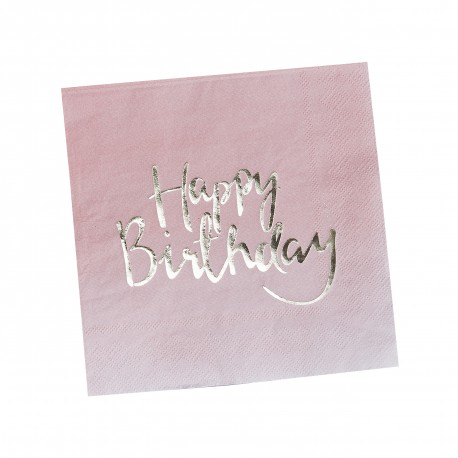Happy Birthday ombre servietter
