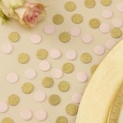 Konfetti i guld og lyserød