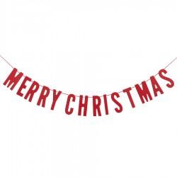 Rød 'Merry Christmas' Guirlande