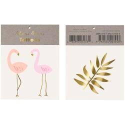 Flamingo tatoveringer fra Meri Meri