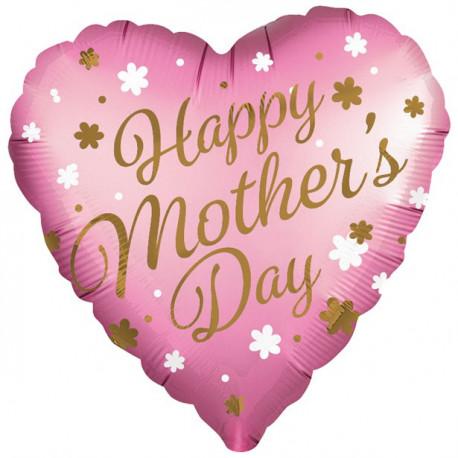 Lyserød Mother's Day folie ballon
