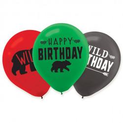 Lumberjack balloner i tre flotte farver