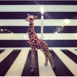 Baby Giraf lysholder og caketopper til fødselsdagskage