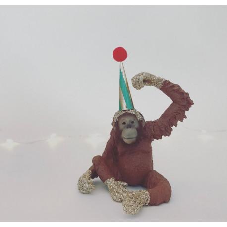 Orangutang lysholder og caketopper til fødselsdagskage