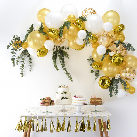 Guld Ballon Guirlande