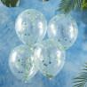 Grønne og blå konfetti balloner