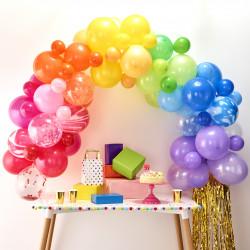 Regnbue Ballon Guirlande fra Gingerray