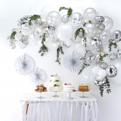 Sølv Ballon Guirlande