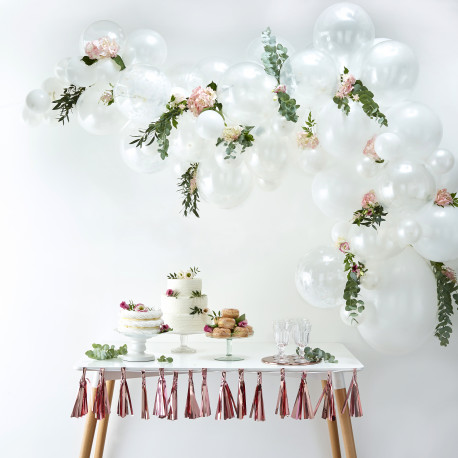 Hvid Ballon Guirlande