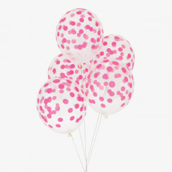 Pink konfetti prikkede balloner fra My Little Day