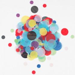 Multifarvet konfetti med sølv folie fra My Little Day