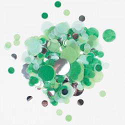 Grøn silkepapirskonfetti med sølv folie fra My Little Day