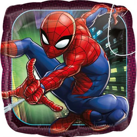 Spiderman firkantet folie ballon