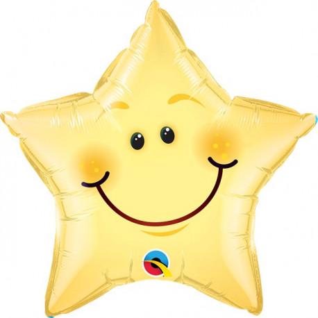 Smilende Stjerneballon
