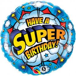 Superhelte Folie Fødselsdagsballon