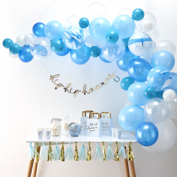 Blå Ballon Guirlande
