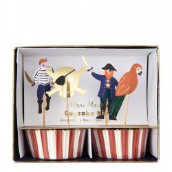 Sørøver cupcakesæt til Pirat fødselsdag fra Meri Meri