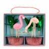 Flamingo Cupcakesæt fra Meri Meri