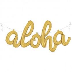 Guld Aloha Ballon
