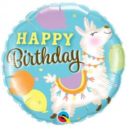 Lama Happy Birthday Folie Ballon