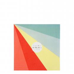 20 Color wheel servietter fra Meri Meri